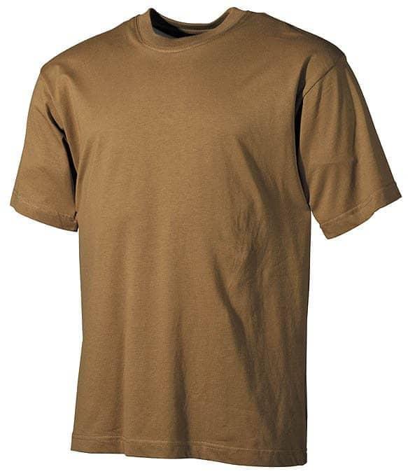 US T-Shirt, halbarm, coyote, 160g/m²