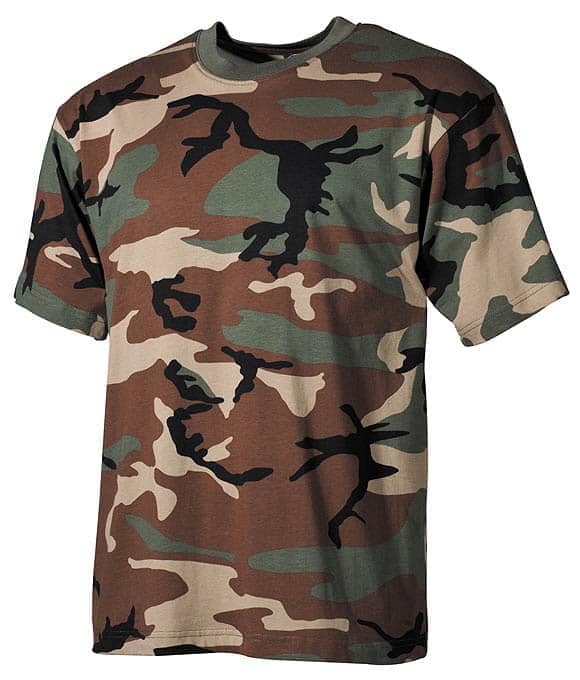 US T-Shirt, halbarm, woodland, 160g/m²