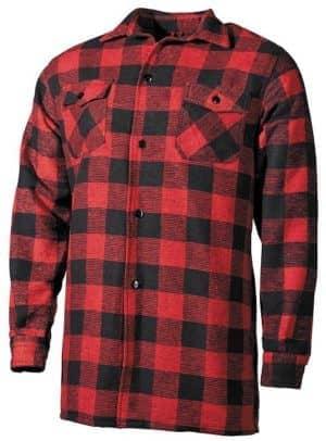 Holzfällerhemd, rot/schwarz, kariert