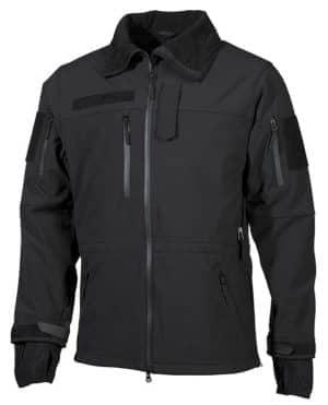 "Soft Shell Jacke, schwarz, ""High Defence"""