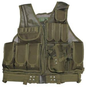 """Weste, """"USMC"""", oliv, Koppel, Holster, div. Taschen"""