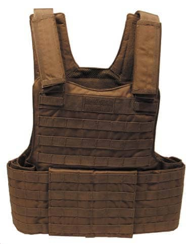 """Weste, """"Molle II"""", mit Futter, coyote tan, Modular System"""