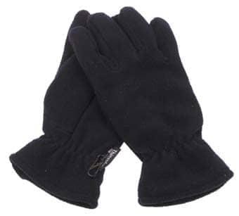 Fleece-Fingerhandschuhe, schwarz, Thinsulatefütterung