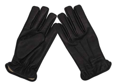 Lederhandschuhe, schwarz, mit schnitthemmend, KEVLAR-Einlage