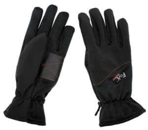 Fingerhandschuhe, Softshell-Einsatz, schwarz