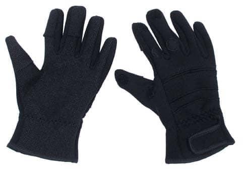 """Fingerhandschuhe, """"Combat"""", Neopren, schwarz"""