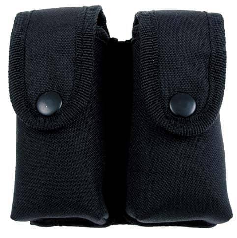 Magazintasche, doppelt, Nylon, schwarz