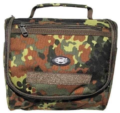 Waschzeugtasche, flecktarn, div. Taschen, Cordura