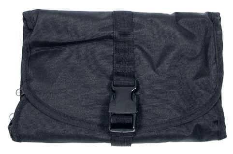Waschzeugtasche, schwarz, div. Taschen, rollbar