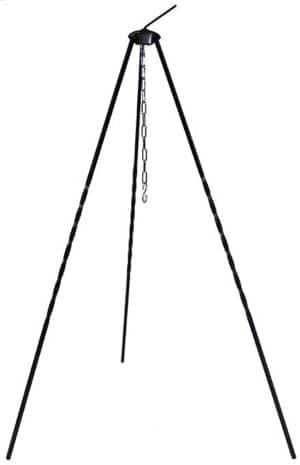 Ungar. Dreibein, Höhe 1 m, Eisen, mit Kette und Haken